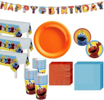 Sesame Street Tableware Party Kit for 24 Guests