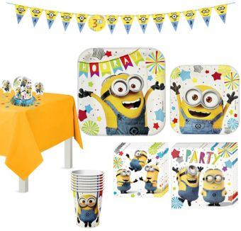 Minions Tableware Party Kit for 8 Guests