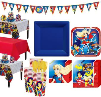 DC Super Hero Girls Tableware Party Kit for 24 Guests