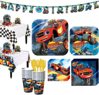 Blaze and the Monster Machines Tableware Party Kit for 16 Guests