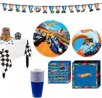Hot Wheels Tableware Party Kit for 8 Guests