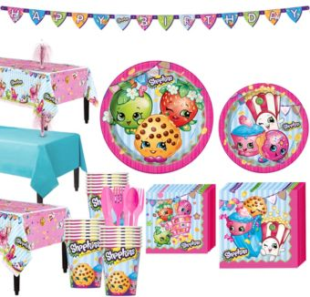 Shopkins Tableware Party Kit for 24 Guests
