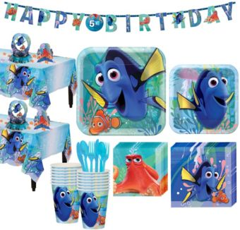 Finding Dory Tableware Party Kit for 16 Guests