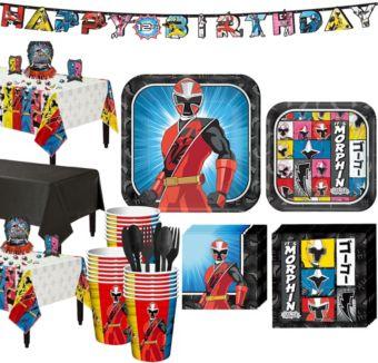 Power Rangers Ninja Steel Tableware Party Kit for 24 Guests