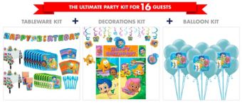 Bubble Guppies Tableware Ultimate Kit for 16 Guests