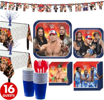 WWE Tableware Party Kit for 16 Guests