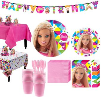 Barbie Tableware Party Kit for 16 Guests