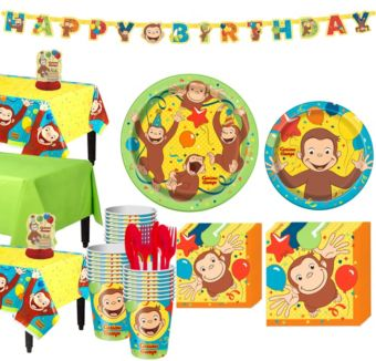 Curious George Tableware Party Kit for 24 Guests