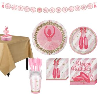 Ballerina Tableware Party Kit for 8 Guests