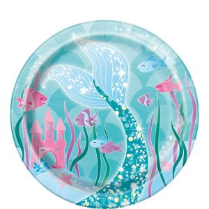 Mermaid Dessert Plates 8ct