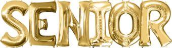 Giant Gold Senior Letter Balloon Kit