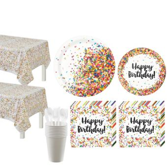 Rainbow Sprinkles Tableware Kit for 16 Guests