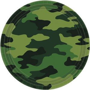 Camouflage Lunch Plates 8ct