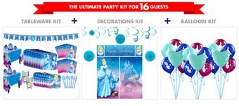 Cinderella Tableware Ultimate Kit for 16 Guests