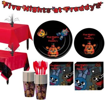 Five Nights at Freddy's Tableware Party Kit for 16 Guests