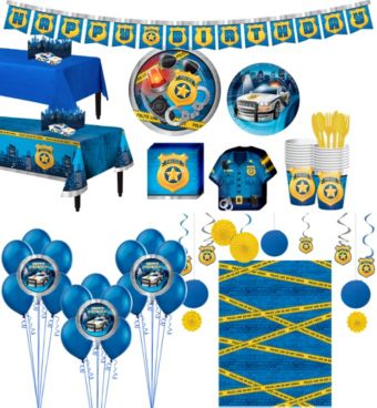 Police Tableware Ultimate Kit for 16 Guests