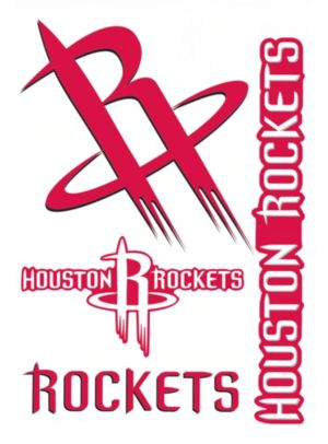 Houston Rockets Decals 5ct