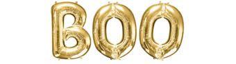 Giant Gold Boo Letter Balloon Kit