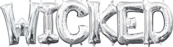 Air-Filled Silver Wicked Letter Balloon Kit