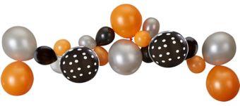 Black, Orange & Silver Balloon Garland Kit