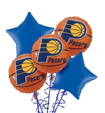 Indiana Pacers Balloon Bouquet 5pc