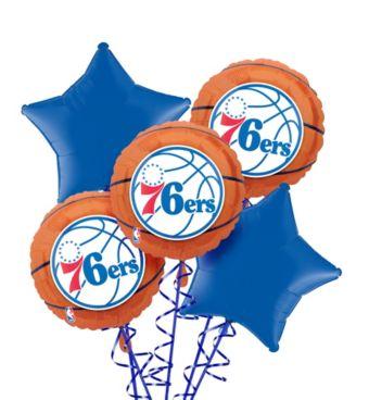 Philadelphia 76ers Balloon Bouquet 5pc
