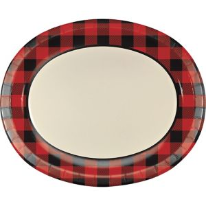 Buffalo Plaid Oval Plates 8ct