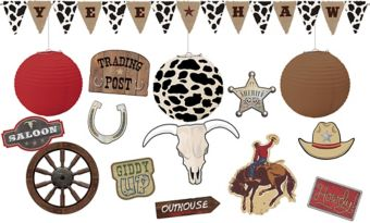 Yeehaw Western Ceiling Decorating Kit