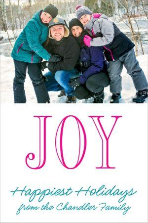 Custom Large Joy Photo Cards