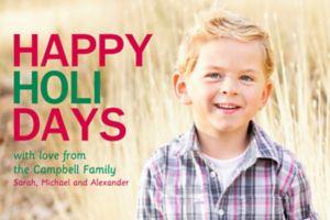 Custom Happy Holidays Photo Cards