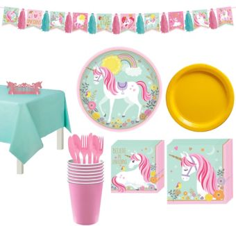 Magical Unicorn Tableware Party Kit for 8 Guests
