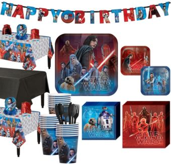 Star Wars 8 The Last Jedi Super Party Kit for 24 Guests