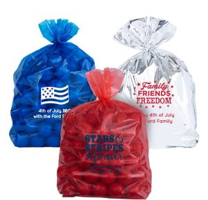 Personalized Medium 4th of July Plastic Treat Bags