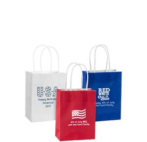 Personalized Small 4th of July Kraft Bags