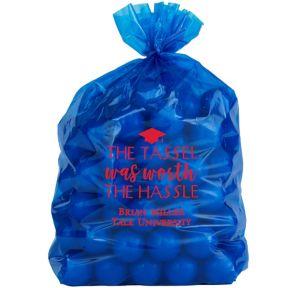 Personalized Medium Graduation Plastic Treat Bags