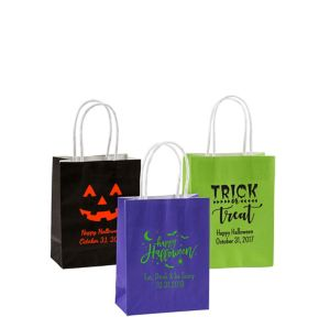 Personalized Small Halloween Kraft Bags