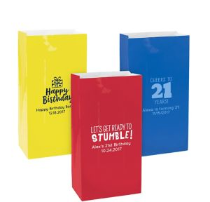Personalized Medium Milestone Birthday Paper Treat Bags
