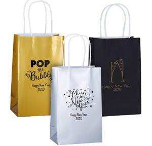 Personalized Medium New Year's Kraft Bags