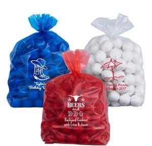 Personalized Medium Summer Plastic Treat Bags