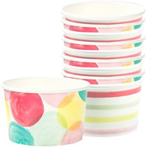 Watercolor Dots & Stripes Treat Cups 10ct