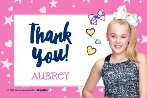 Custom JoJo Siwa Thank You Note