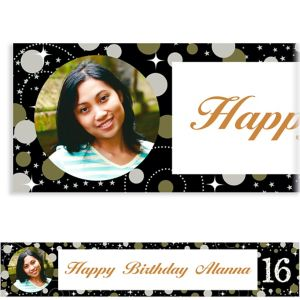 Custom Sparkling Celebration 16 Photo Banner