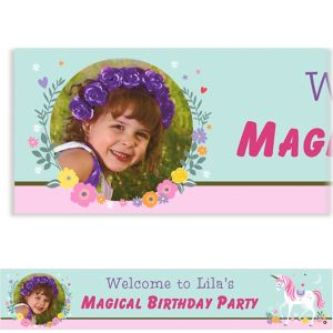 Custom Magical Unicorn Photo Banner