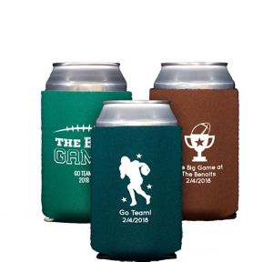 Personalized Football Collapsible Can Coozies