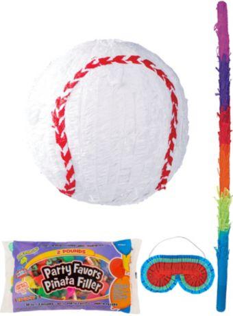 Baseball Pinata Kit with Candy & Favors