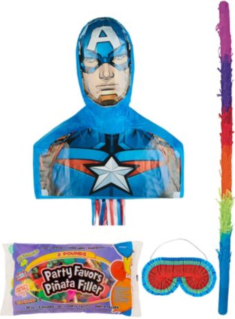 Captain America Pinata Kit with Candy & Favors