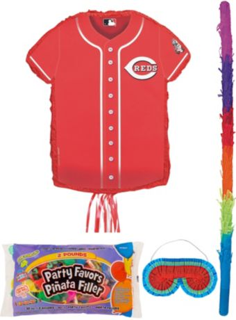 Cincinnati Reds Pinata Kit with Candy & Favors