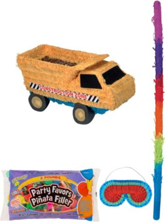 Dump Truck Pinata Kit with Candy & Favors