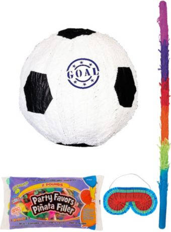 Goal Soccer Ball Pinata Kit with Candy & Favors