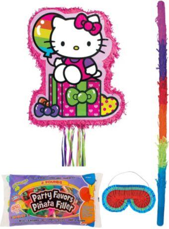 Rainbow Hello Kitty Pinata Kit with Candy & Favors